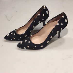 Club Monaco Calf hair Polka Dot Stilettos